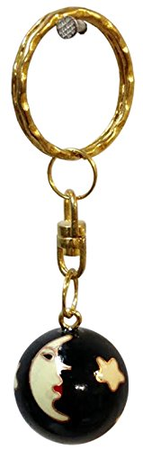 (One Dozen Sun and Stars Cloisonné Chiming Ball Keychains)
