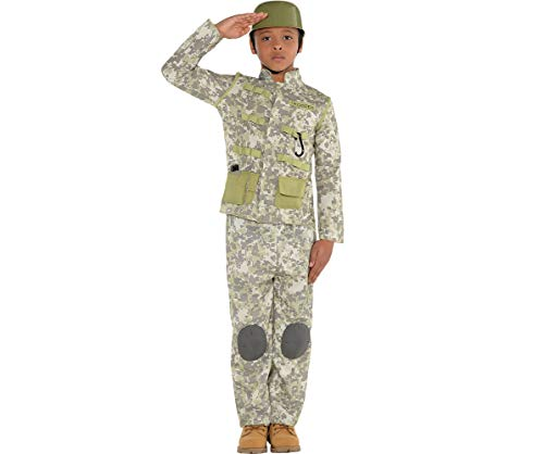Amscan Combat Soldier Halloween Costume for Boys, Large,
