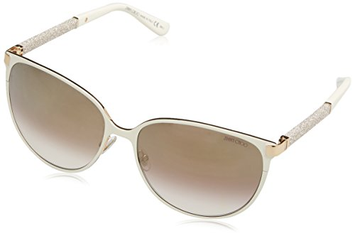 Jimmy Choo Women's Posie Sunglasses, Ivory/Brown, One - 1 2 Sunglasses In