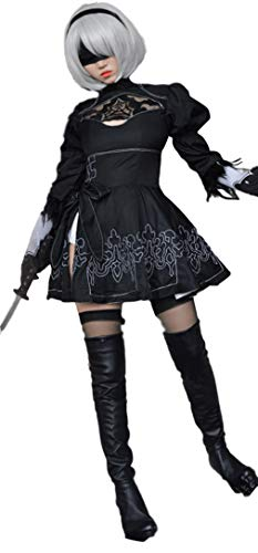 Automaton Costumes - HalloweenCostumeParty 2B Type Floral Lace Dress