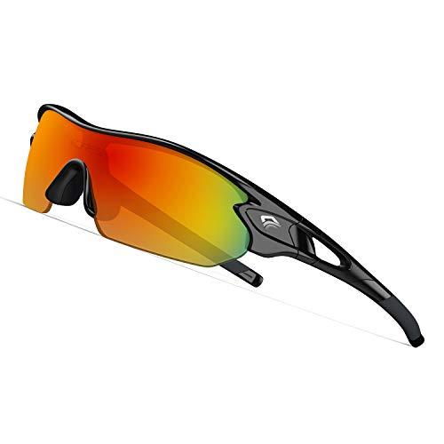 TOREGE Grilamid Tr90 Flexible Kids Sports Sunglasses Polarized Glasses for Junior Boys Girls Age 3-12 TR04