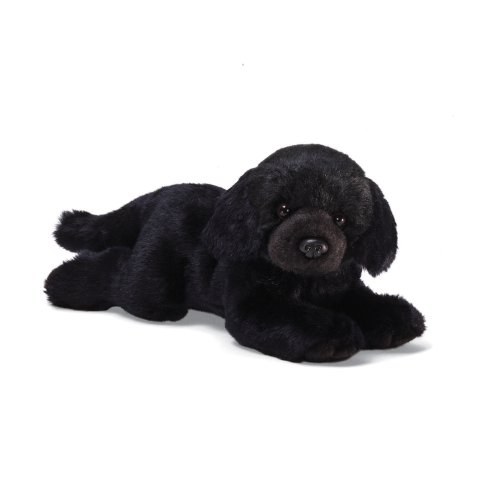 Black Lab Plush Toy - GUND Black Labrador Medium 14