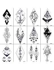0e170a0c1b72a 12 Pieces/Lot Fun Geometric Star Planets Fake Temporary Tattoos For Kids  Sticker Paper 10x6CM