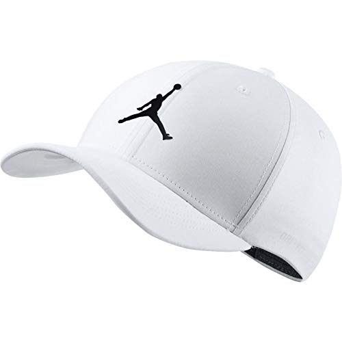 fe580c920cb0b0 Amazon.com  Nike Mens Jordan Jumpman CL99 Woven Hat (White Black ...