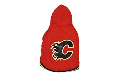 Protect Me Alerts NHL Calgary Flames Varsity Dog Jacket, Medium ()