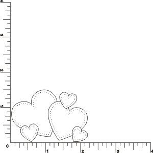 Scattered Hearts Rubber Stamp By DRS Designs