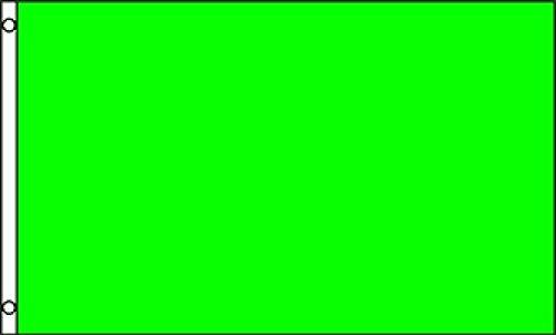 Printed Nylon Flag - 3X5 Solid Plain Neon Green Printed Nylon Flag 3'X5' Advertising Banner