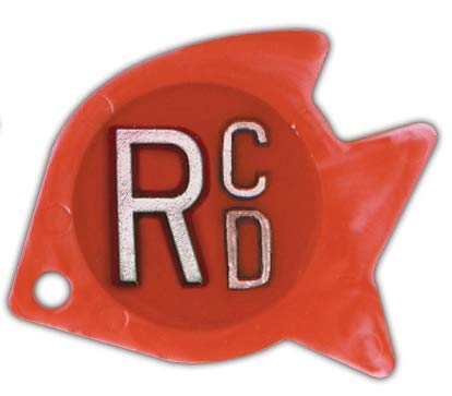 Veterinary X-Ray Markers, Identifier Style - Tropical Fish, 2 Initials,Right ONLY, R 5/8