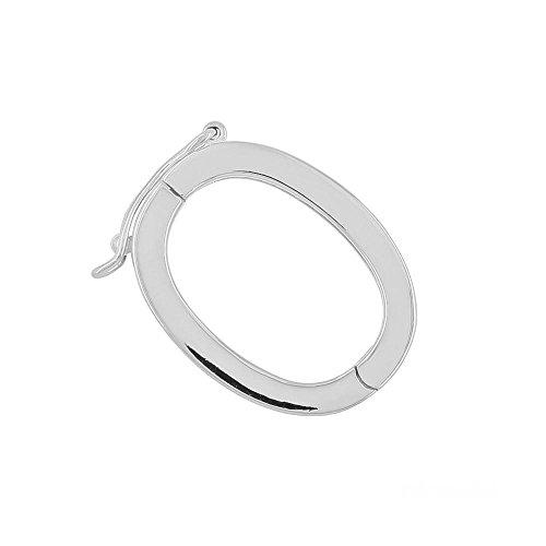 egemmall Sterling Silver Oval Pearl Enhancer Shortener Pendant Bail Connector (Enhancer Sterling)