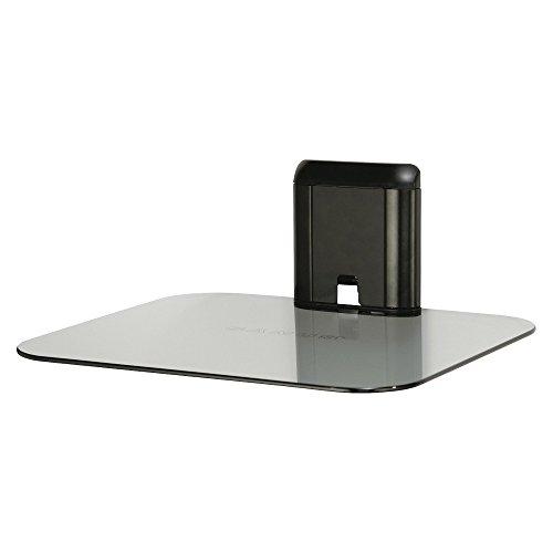 Sanus Single AV Glass Shelf - Black/Clear