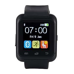 [Regalo Smartwatch]EasySMX Bluetooth 4.0 Smartwatch Android Versión Nueva Reloj con Android Smartphones como Samsung, HTC, Sony, Huawei (Negro)
