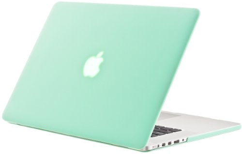 Kuzy Rubberized Hard Case for Older MacBook Pro 15.4 with Retina Display A1398 15-Inch Plastic Shell Cover - MINT GREEN