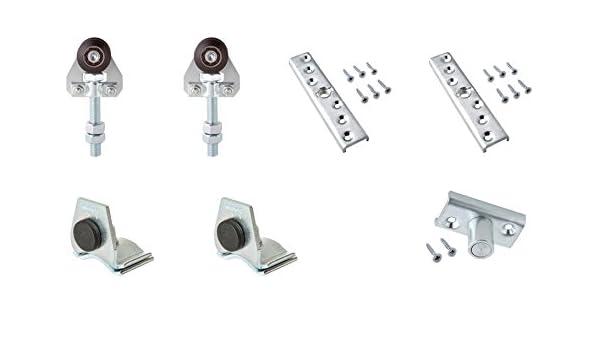 Estebro KC150 Kit de herraje para puerta corredera (hasta 150 kg con rodamientos en nylon): Amazon.es: Bricolaje y herramientas