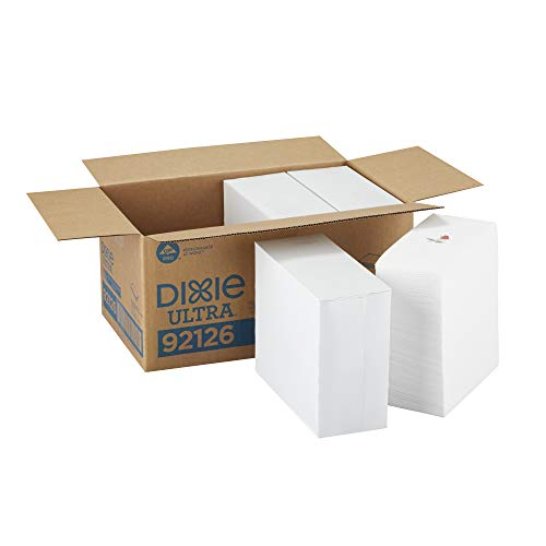 Dixie Ultra 1/8-Fold Linen Replacement Dinner Napkin (Previously Essence Impressions) by GP PRO (Georgia-Pacific), White-Rose, 92126, 100 Napkins Per Pack, 4 Packs Per Case