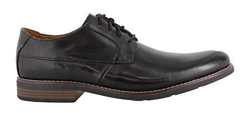 CLARKS Men's Becken Plain Oxford, Black, 7.5 M (Clarks Lightweight Oxfords)