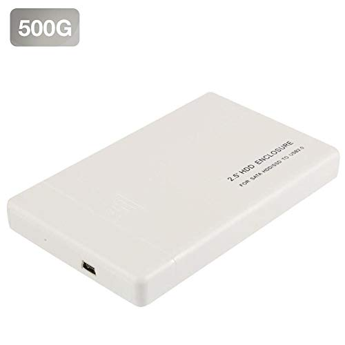Fast Transmission External Hard Drive Enclosure 2.5 Inch HDD Enclosure USB2.0 SATA3.0 6Gb Solid State SSD Portable Mobile High Speed Hard Disk ()