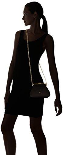Negro MENBUR Schwarz de 44781 Bolso de hombro Sintético Mujer ZHCpqFwZ