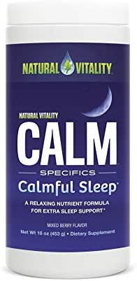 Natural Vitality Calm Specifics, Calmful Sleep, Dietary Supplement Powder, Mixed Berry - 16 Ounce