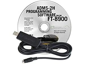 Yaesu ADMS-2H Programming Software on CD with USB Computer Interface Cable for FT-8900R by RT Systems