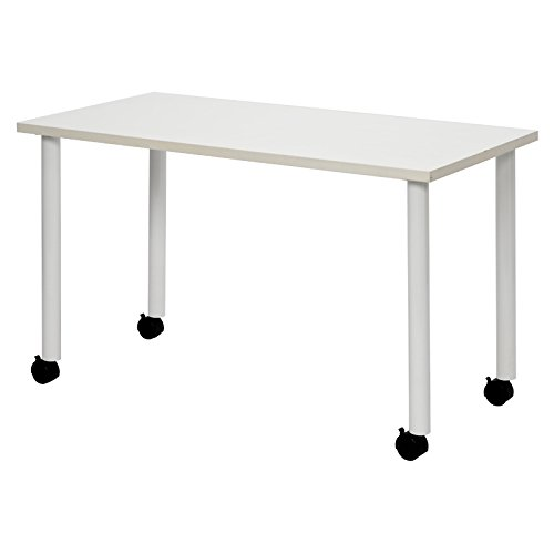 G-Style エコノミーキャスターテーブル W1200×D600 ホワイト OGRECTT-WL1260WH 1台 B01BSM2WAO