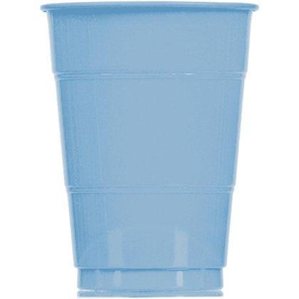 Light Blue 16 oz. Plastic Cups (20 count)