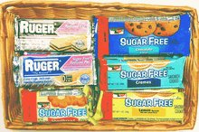 Diabeticfriendly Sugar Free Cookie Gift Basket, Contains Keebler. Murry and Rugers Cookies