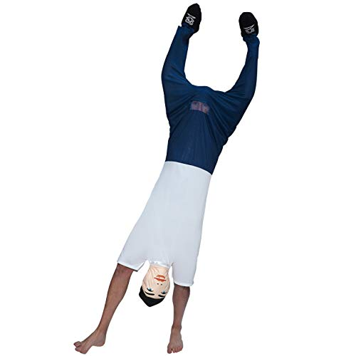 Mens Upside Down Dude Optical Illusion Costume for Bachelor Stag Party Fancy Dress