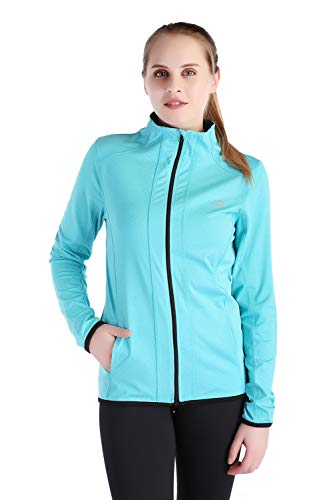 Dolcevida Women's Full Zip Long Sleeves Running Activewear Yoga Track Jackets (Blue, -