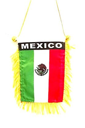 Cheap  Small Mexico flag for Automobile or Home design mini size Mexican flag..