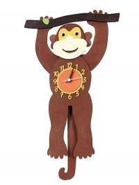 Monkey Swinging Tail Clock Amazon Co Uk Kitchen Amp Home