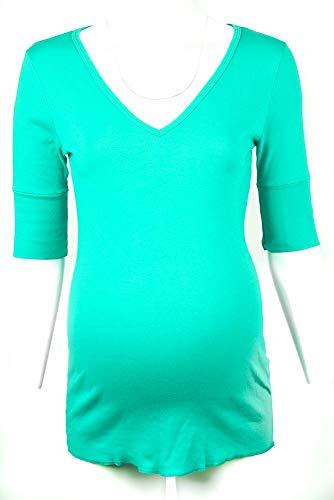- Michael Stars Maternity Dragonfly OSFA Elbow Shirt Deep Vneck tee top Greens