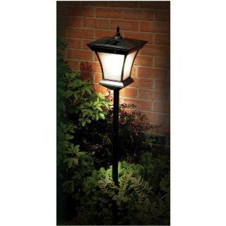 Delightful Weatherproof Solar Powered Garden Lamp Post 1.3m Ultra Bright White LED  Lights