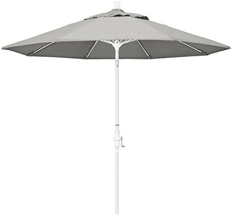 California Umbrella GSCUF908170-5402 9' Round Aluminum Pole Fiberglass Rib Market Patio Umbrella