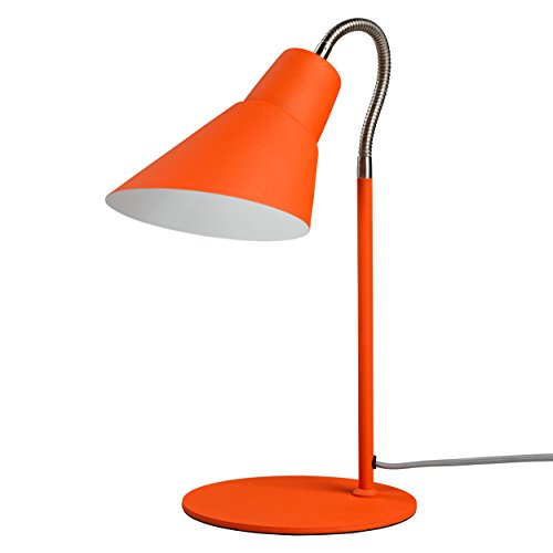 "Wild and Wolf AWWL016 Gooseneck Desk Lamp, 10.6"" x 15.3"" x 7.87"", Goldfish Orange"
