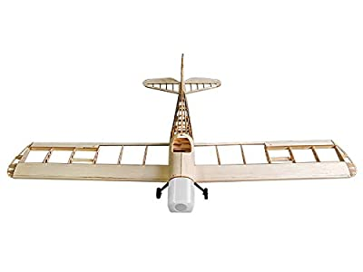 RC Airplane 4CH Radio Remote Controlled Electronic&Gas Aircraft Laser Cut Balsa Wood Plane Model Wingspan 1230mm Space Walker Building Kit + Power System