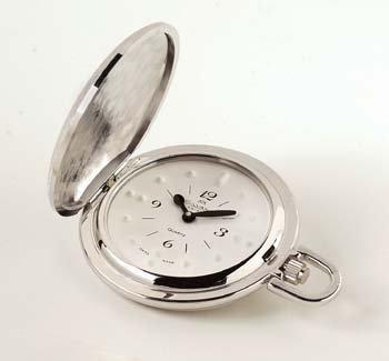 Divine Medical Montiel Men's Braille Pocket Watch White face, Rhodium Case by AliMed