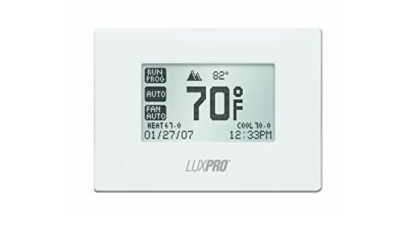 luxpro pspu721t Touch Screen de 7 Day Deluxe Programmable Termostato by LUXPRO: Amazon.es: Bricolaje y herramientas