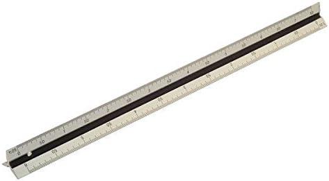 Triangular 300mm Rolson R/ègle en acier inoxydable 12in.