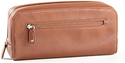トラベルポーチ化粧ポーチ 航空トイレタリーバッグコスメティックバッグ婦人トラベル収納袋ポータブル長方形クラッチバッグ トラベルポーチ 化粧品 (色 : Purple, Size : 10x6x19.8cm)