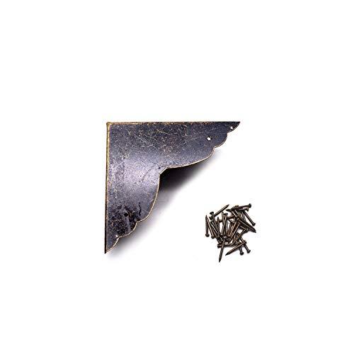 Karcy Corner Protectors Metal Bronze Box Corners Corner Decorative Side Length 2.8