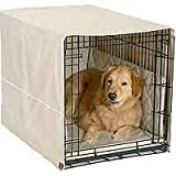 Dog Crate Cover Set with Mat and Bumper - Khaki - 24 in.
