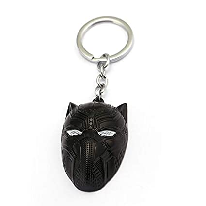 Algol - Small Black Panther Mask Keychain For Men Superhero ...