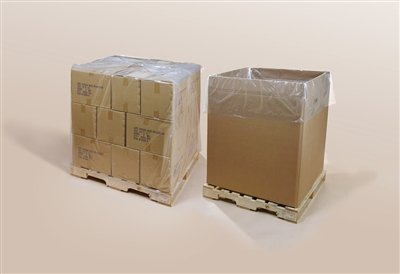 Clear Pallet Covers on a Roll 52 x 48 x 96 x 2 mil - 2 Pallet Mil