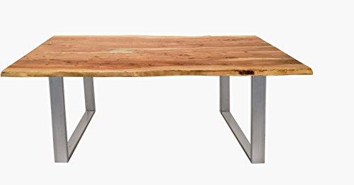 Kasper-Wohndesign KA111492 Esstisch, Holz, braun, 160 x 85 x 77 cm