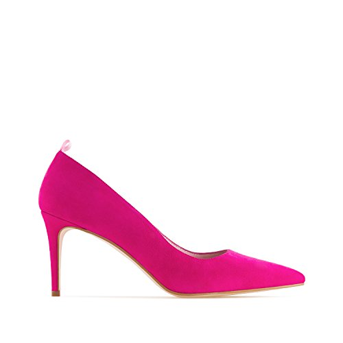 Gala.andres Machado Stilettos Suede Leather.made In Spain.Mujeres Petite & Large Tallas: Us 2-5 / Us 10.5 To 13 Fucsia Suede Leather