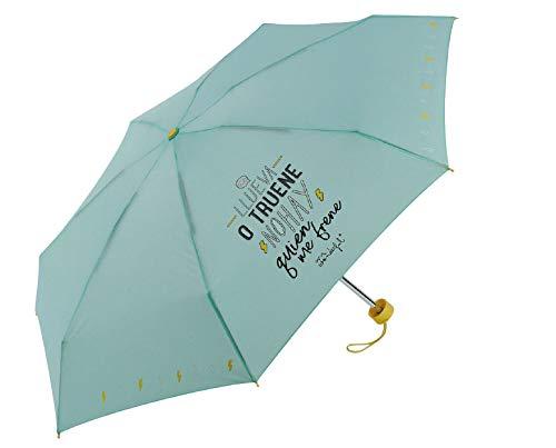 9ff81be6de8 FumandoEspero Paraguas Mini Mr Wonderful Verde con Funda de Neopreno  incluida - Llueva o truene