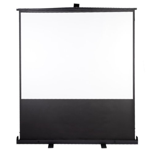 - Safstar Pull up Floor Projection Screen Portable Floor Stand Manual Pull up Home Theater Office Presentation 4:3 Projector Screen Square 80