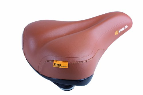 - VELO Plush Bicycle Saddle (Brown, 264 x 220mm)