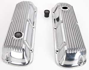 JEGS Performance Products 50110 Polished Finned Valve Covers