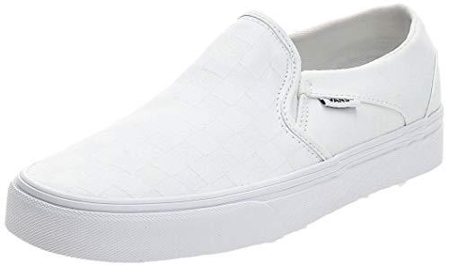 Vans-Womens-Slip-On-Trainers-White-Checkerboard-White-White-W51-40